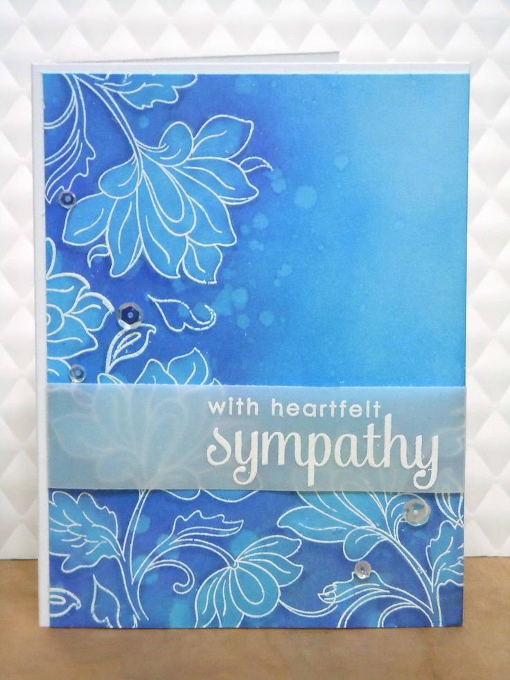I had the need to make another sympathy card this week. Having no mojo for cardmaking, I did what I often do - I took some inspiration from ...