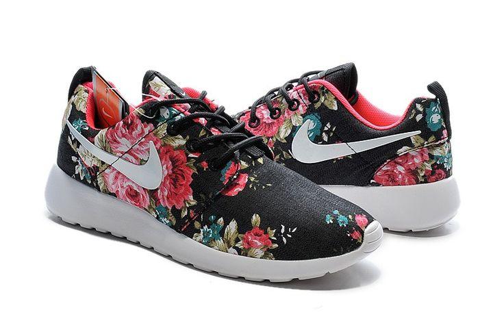 Nike Roshe One Print Flower/Fiori Scarpe da Running Donna Nere Rosse Flower/Fioris Online