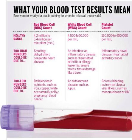 What Your Blood Test Results Mean Blood Test Pinterest
