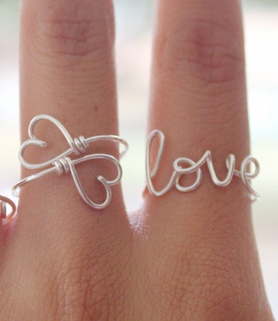 Wire word jewelry