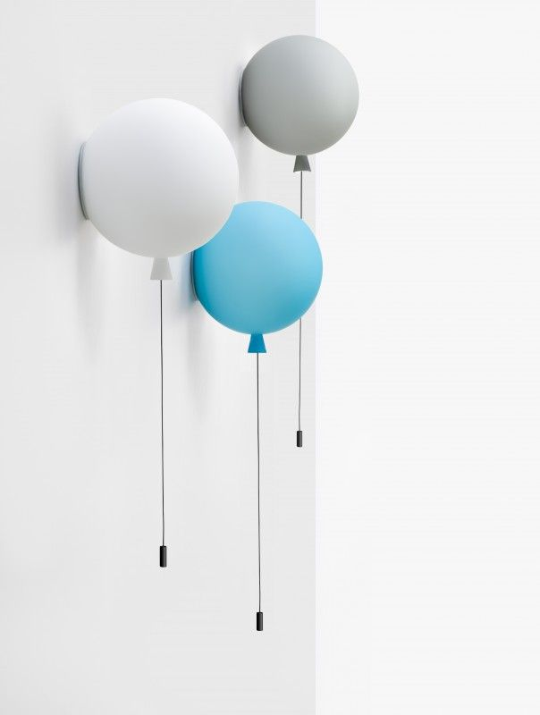 Wall Lamp Balloon #kidsroom #lightingideas #kidsbedroomideas Find more inspirations at www.circu.net