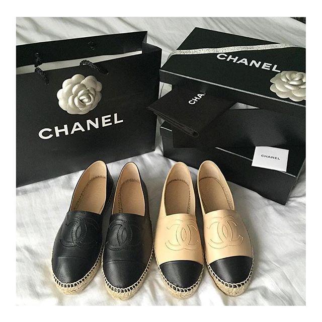 Black or beige? #Chanel espadrilles ❤️