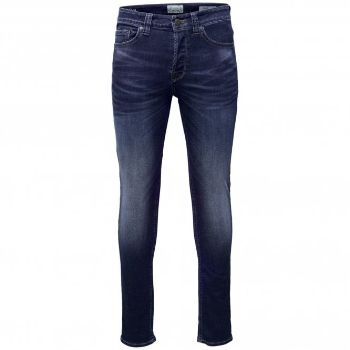 Only & Sons-Jeans in denim di cotone blu medio