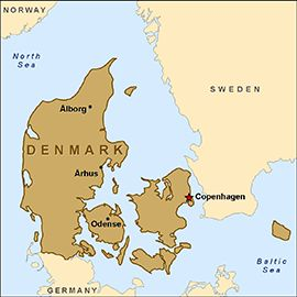 Map - Denmark