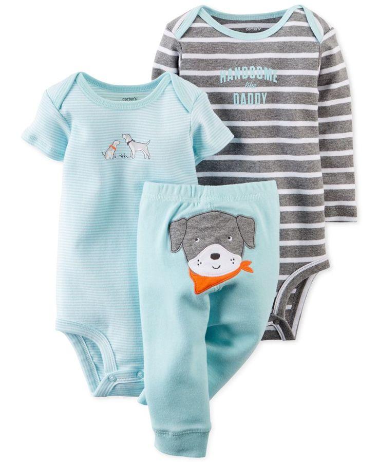Carter's Baby Boys' 3-Piece Dog Bodysuits & Pants Set