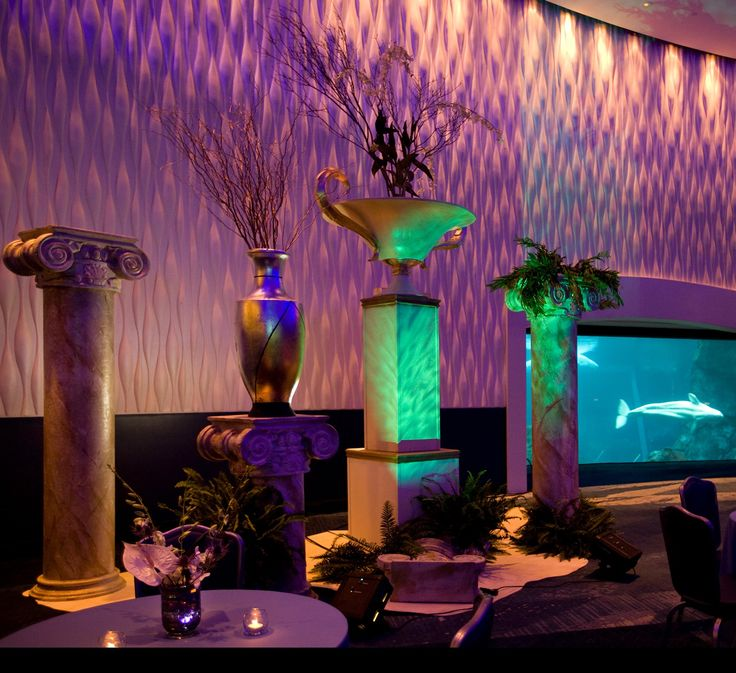 Lost City Of Atlantis At Atlanta Aquarium J Patrick Designs Corporate Event