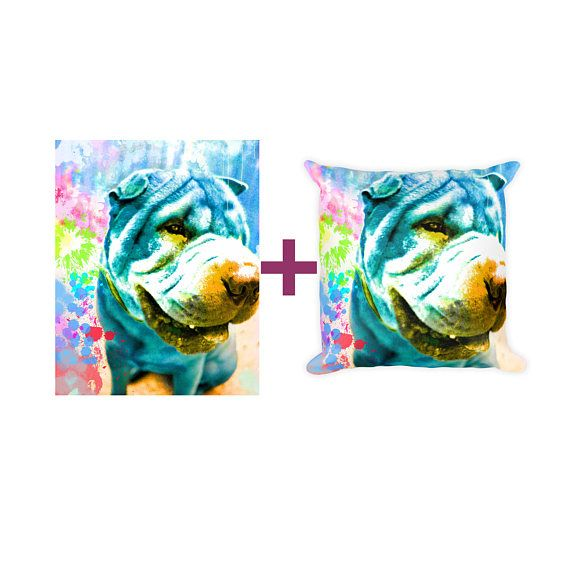 Custom dog portrait Portrait on pillow Custom dog pillow