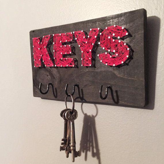 String Art Key Hook Custom Storage by BryanKiddDesigns on Etsy