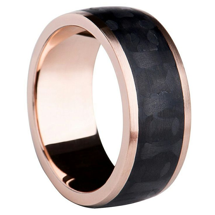 Rose gold with carbon band.