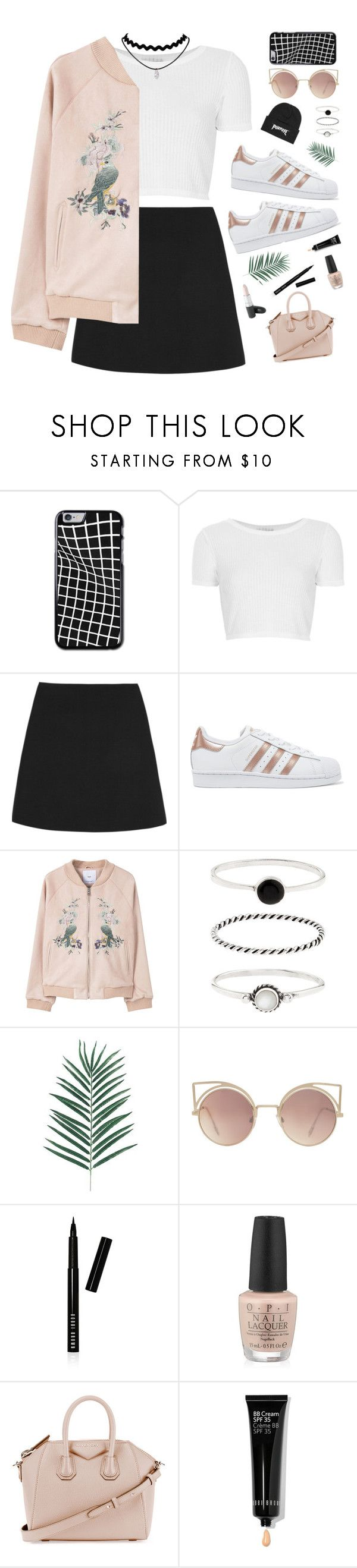 """Untitled #70"" by kettyamanda ❤ liked on Polyvore featuring Topshop, Valentino, adidas Originals, MANGO, Accessorize, Bobbi Brown Cosmetics, MAC Cosmetics and Givenchy"