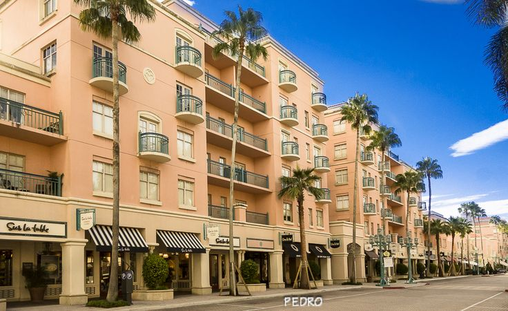 Stores on Mizner Park and apartments