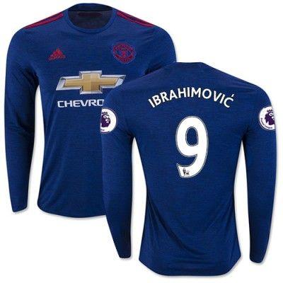 Manchester United 16-17 Zlatan Ibrahimovic 9 Udebane Trøje Langærmet.  http://www.fodboldsports.com/manchester-united-16-17-zlatan-ibrahimovic-9-udebane-troje-langermet.  #fodboldtrøjer