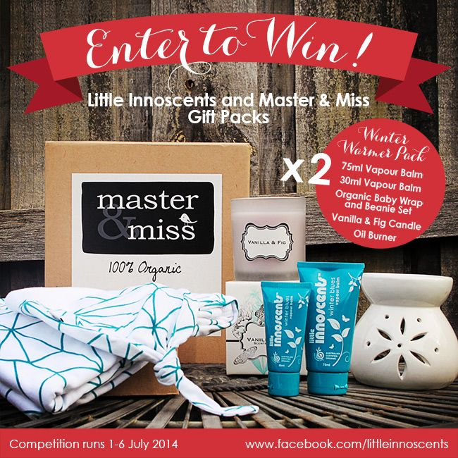 Win a Winter Warmer Gift Pack from Little Innoscents and Master & Miss.  #organic #win #competition #organicbabycare #babies #babycare #organicliving