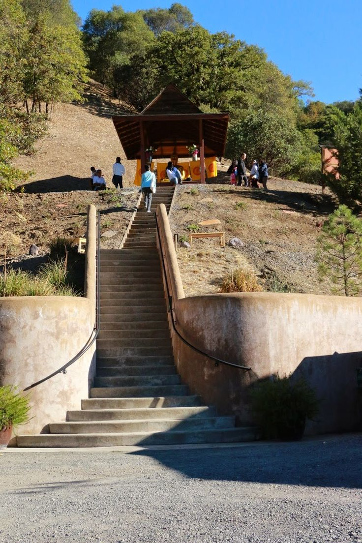 Abhayagiri Buddhist Monastery in Redwood City, California.