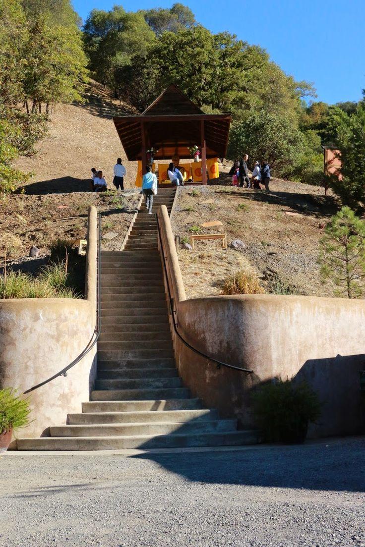 Abhayagiri Buddhist Monastery in Redwood City, California.