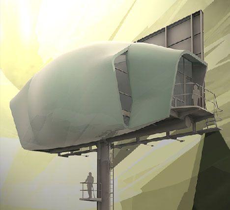 New Green Prefab Idea: 500K Billboards as Modular Housing