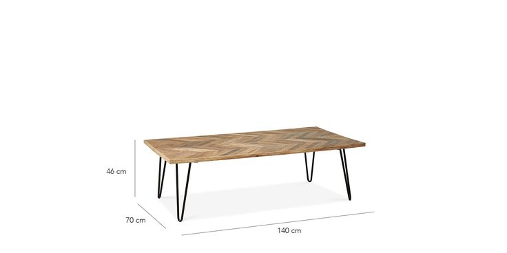 Swoon Editions Coffee table, contemporary-style in mango wood – £259