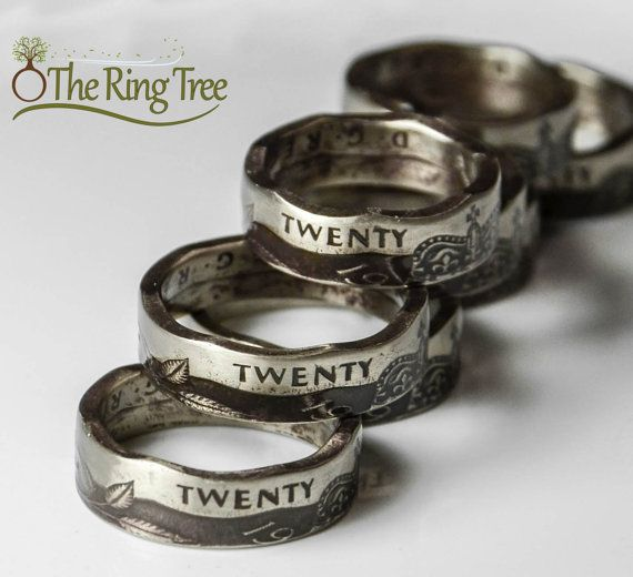 United Kingdom 20 Pence Coin Ring by TheRingTree on Etsy