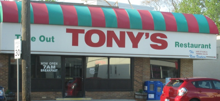 Tony's Restaurant, Saginaw, MI.  The home of the humongous EVERYTHING ... especially the BLT's and burgers ... LOVE eating here!  The good old days!