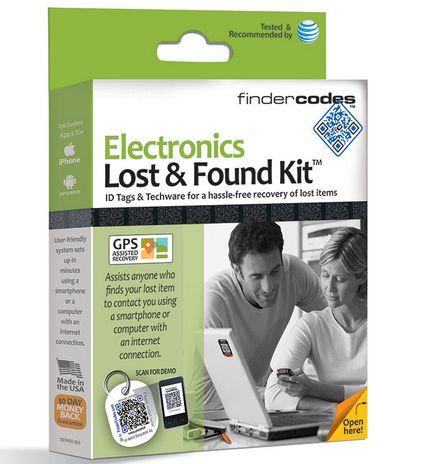 Kit Objet Perdu - Retrouve Electronique  FinderCodes tire profit de la popularité des téléphones cellulaires, des codes QR et des applications tout en comblant le besoin quotidien de retrouver les articles précieux perdus.