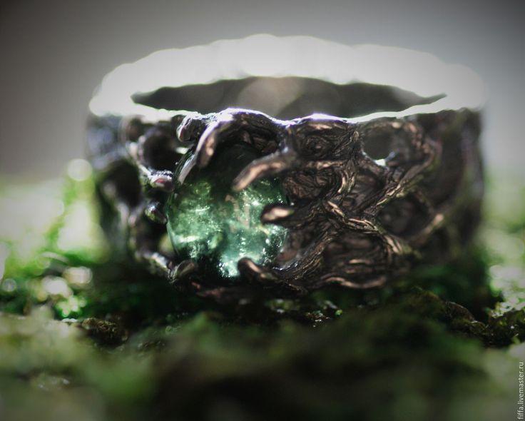 """Купить Кольцо """"Лесник"""". - зеленый, лес, эльф, деревья, ветви, переплетение, волшебное, волшебное кольцо"""