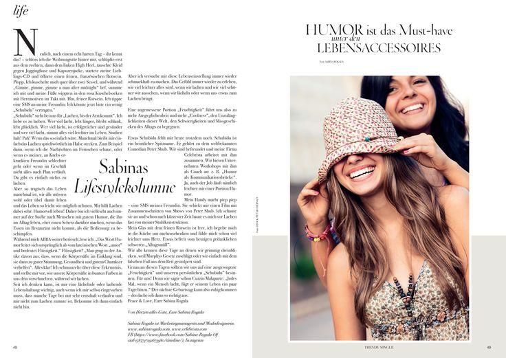 "Sabinas Lifestyle Kolumne Januar 2016 Inspiration Peter Shub ""Lachen machen"".  Humor als Lebensaccessoire."