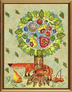 Набор для вышивания нитками  и бисером Сказочное дерево