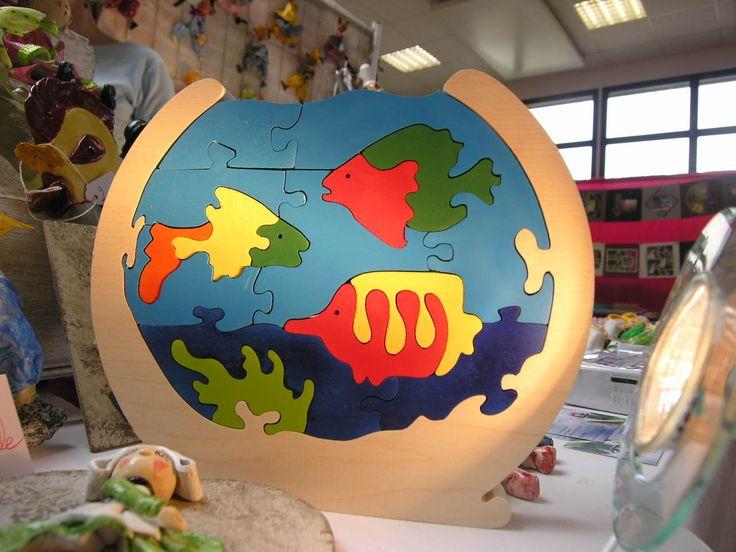 Les 25 meilleures id es de la cat gorie puzzle en bois sur for Jouet aquarium poisson