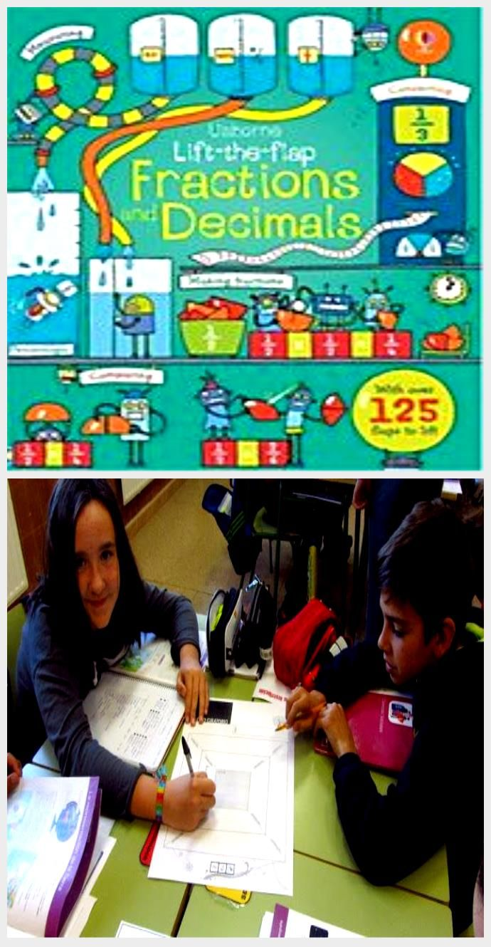 Lift The Flap Fractions And Decimals Rosie Dickins Pappband Buch