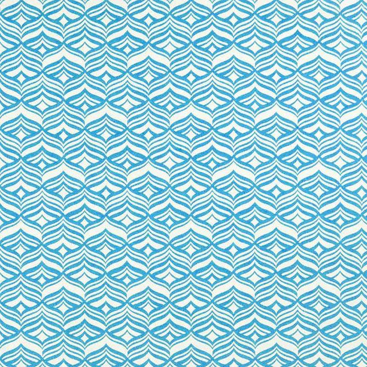 Warwick Fabrics : AVOCA TURQUOISE