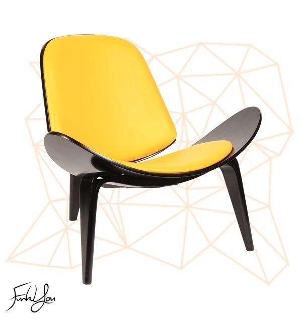 Duke Shell Chair - Yellow. www.funkyou.com.au