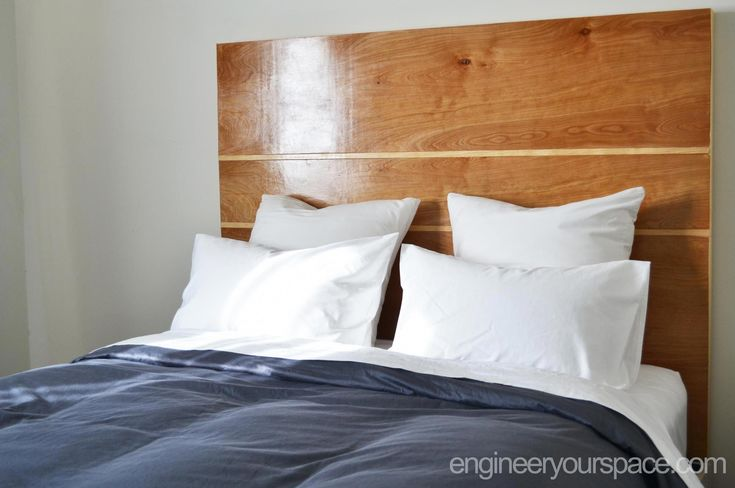 DIY headboard that can work with any bed frame AND you don't need to drill any holes in the wall or bed to install it – perfect for renters! #homeProjects