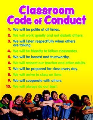Classroom Code of Conduct Chart | Mardel