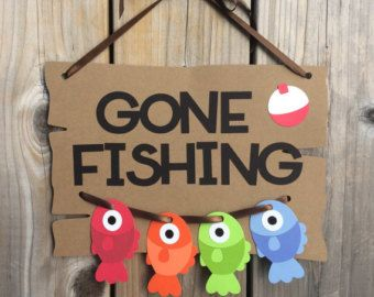 IT'S A GIRL gone fishing themed banner gone by lilcraftychickadee