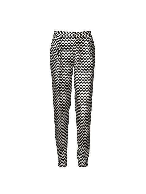 Habikas zijden broek met print