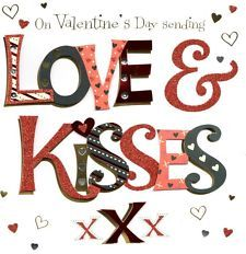 View item: Love & Kisses Valentine's Day Greeting Card Handmade By Talking Pictures