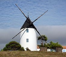 Île de Noirmoutier.  Moulin de la Bosse. Vendée