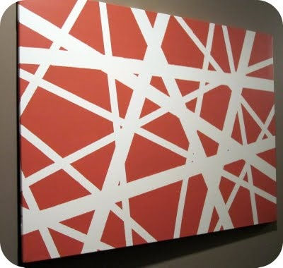 Tape and Paint- I kinda like this happening look!: Painters Tape Art, Canvas Paintings, Diy Art, Tape Painting, Canvas Art, Criss Crosses, Diy Canvas, Diy Wall Art, Crafts
