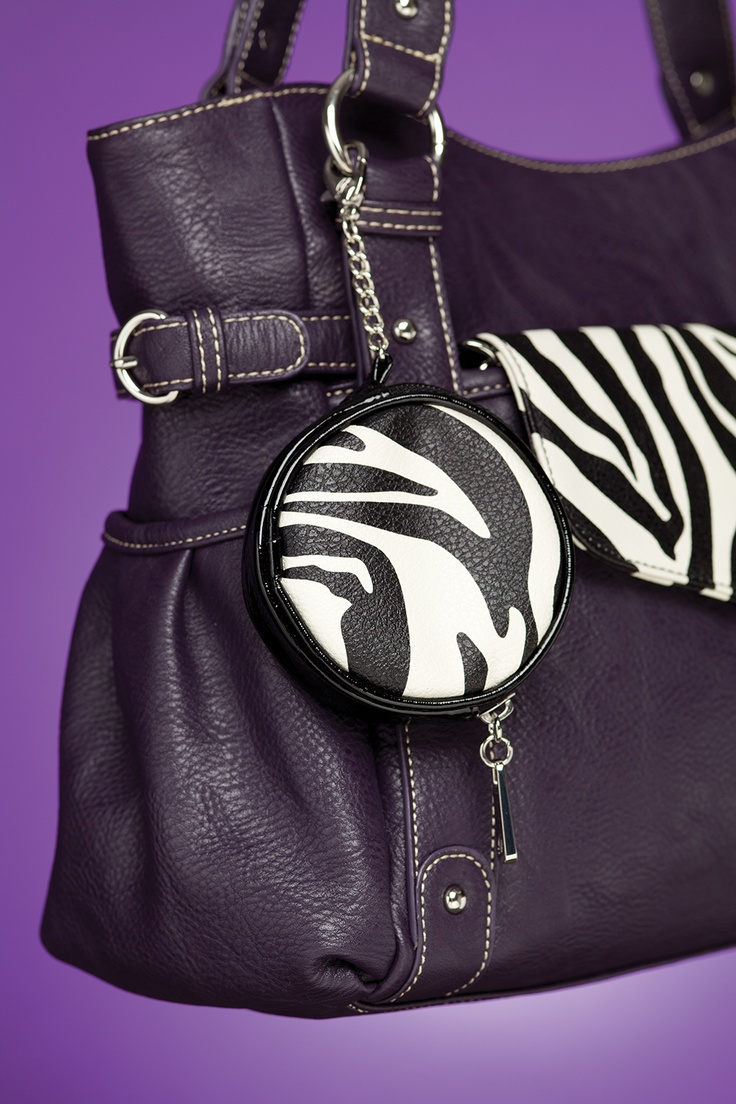 "Grace Adele ""Mary"" bag + ""Jane"" zebra clutch + ""Round"" purselet in zebra"