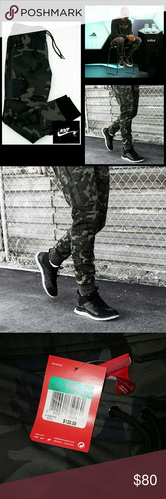 Nike Tech Fleece Camo Mens Pants >>Brand New<< Nike Tech Fleece Camo Mens Pants are made with soft jersey fabric and cuffed hems for comfort and a fit that moves with you. Nike Pants Sweatpants & Joggers
