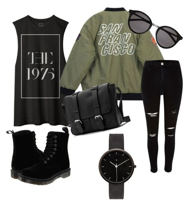 """Dope"" by rhianna-kuss on Polyvore featuring Chicnova Fashion, Dr. Martens, Yves Saint Laurent, I Love Ugly, River Island, women's clothing, women, female, woman and misses"