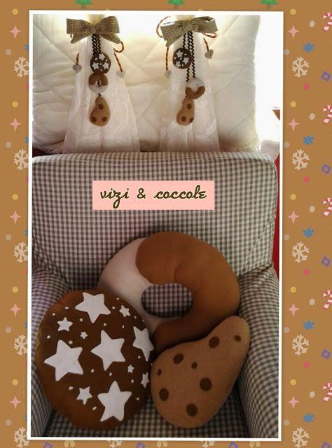 LA VIE EN ROSE: Cuscini ed embrasse deliziosi biscotti...per un do...