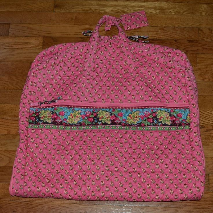 Vera Bradley GARMENT Bag Retired Hot PINK PANSY Travel Luggage Multi Compartment #VeraBradley