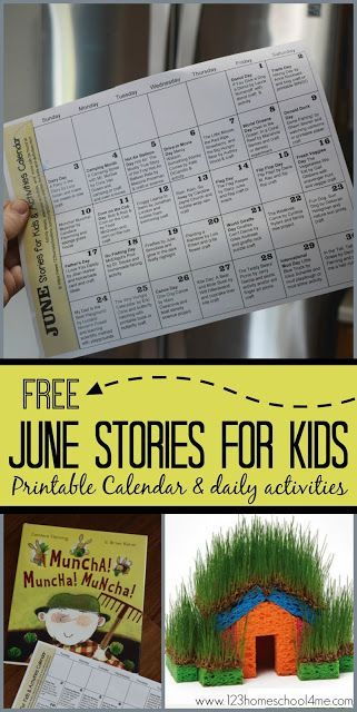 June Stories for Kids and Activity Calendar