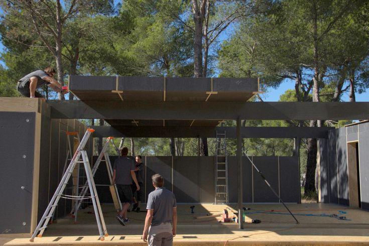 legoblokken uit isomo. klaar in 2 weken. 38000 euro voor 130m². nice.