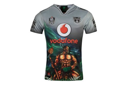 Canterbury New Zealand Warriors 9s NRL 2018 Home S/S Rugby Shirt, £70.00