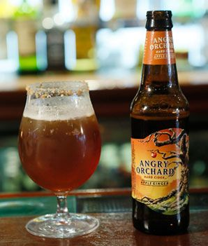 Pumpkin ale and hard cider. Combine 1/4 ounce candied walnuts, crushed, 1/2 ounces honey whiskey, such as Wild Turkey American Honey, 4 ounces pumpkin ale, 4 ounces Angry Orchard Apple Ginger Cider