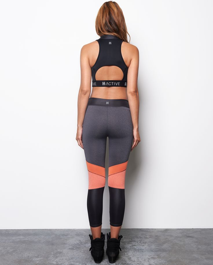 Our Eliza Excel leggings are a must have with on-trend colour block panelling and adjustable wide waistband. These 7/8 tights are a great item to keep you feeling supported and chic throughout your workouts.