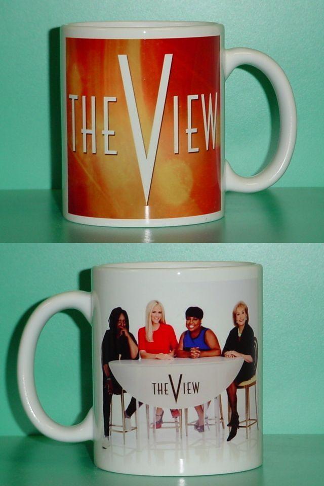 The View Barbara Walters Whoopi Sherri Jenny 2 Photo Designer Collectible Mug 03