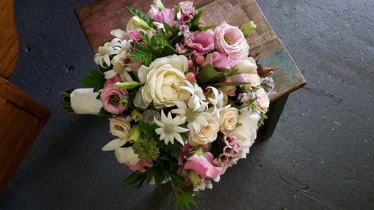 Beautiful bouquet of seasonal blooms and foliage.